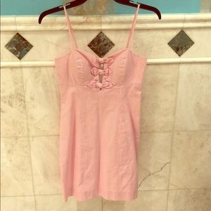 Lily Pulitzer mini-dress. Pink and white striped.